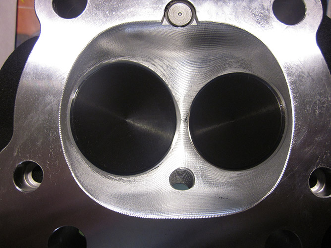 CNC Ported Harley Davidson Heads | Rams Head Service