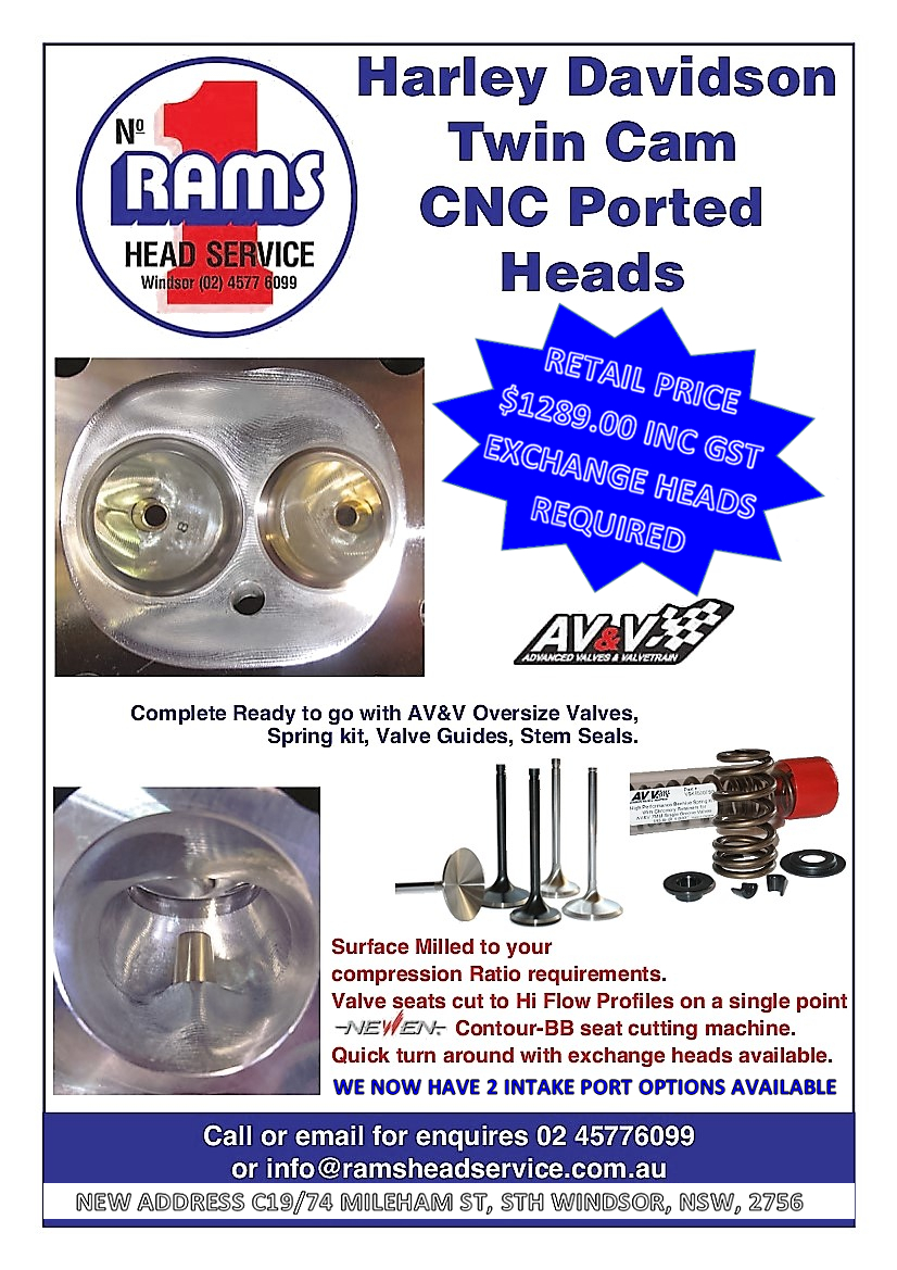 HARLEY TWIN CAM CNC (EXCHANGE HEADS REQUIRED) OR WE CAN DO YOUR HEADS, 2 X  PORT OPTIONS AVAILABLE