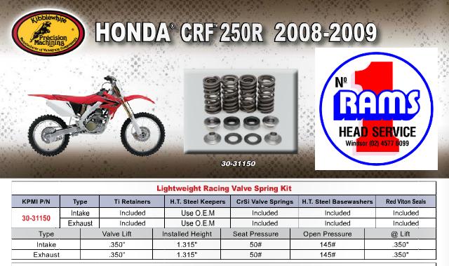 2004-2005 Kibblewhite Intake /& Exhaust Valves Kit Honda TRX450R